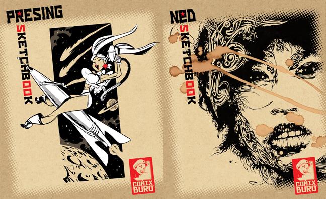 Sketchbooks de Comix Buro : Bill Presing et Ned