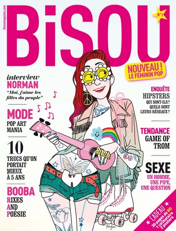 Bisou, le magazine fminin pop de Delcourt