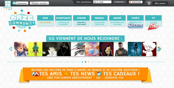 Kaz lance son site communautaire