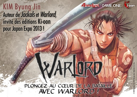 L&rsquo;auteur de Warlord et Jackals prsent  Japan Expo