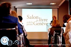 Bulle d'Encre à l'ambassade de Suisse pour la conférence de presse du Salon du Livre de Genève
