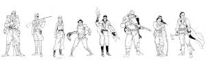 personnages Ulule N&B