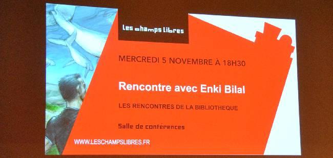 Rencontre avec Enki Bilal aux Champs libres à Rennes