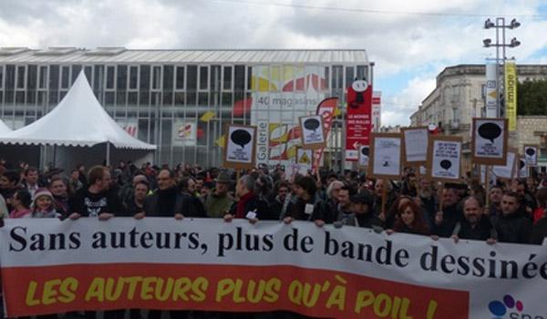La marche des auteurs de BD à Angoulême