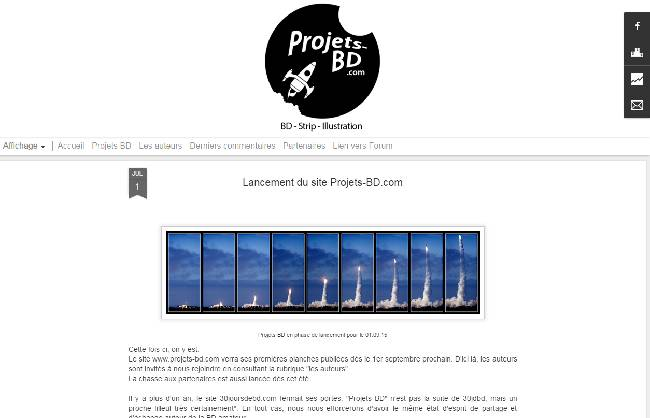 copie ecran projets bd
