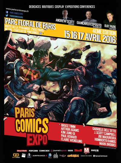 Paris Comics Expo 2016 : le programme