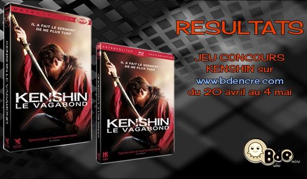 Résultats Concours Kenshin le Vagabond