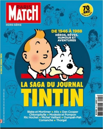 La Saga du journal Tintin, un hors-série de Paris Match