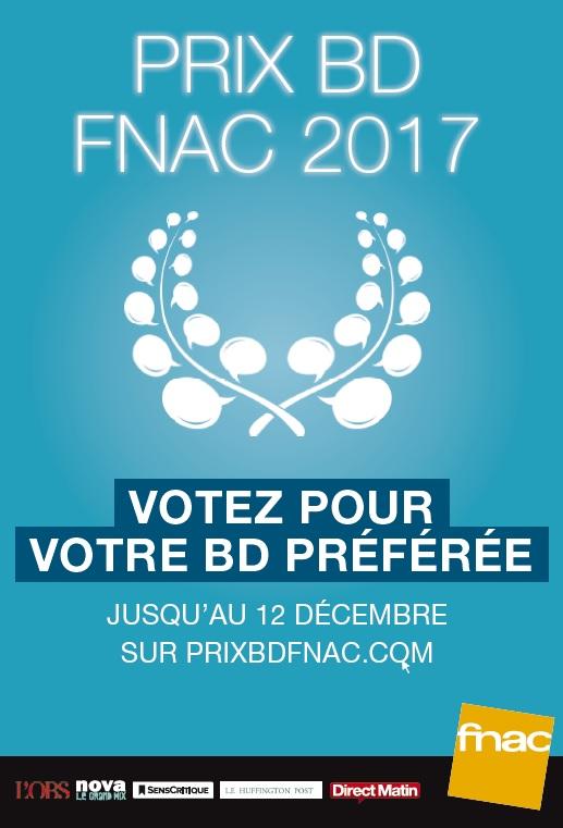 Prix de la BD Fnac 2017 – Annonce du lauréat… et concours !