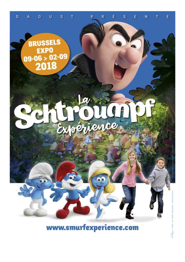 2018, Année des Schtroumpfs ! La Schtroumpf Experience – Bruxelles – Du 09 Juin 2018 au 02 Septembre 2018