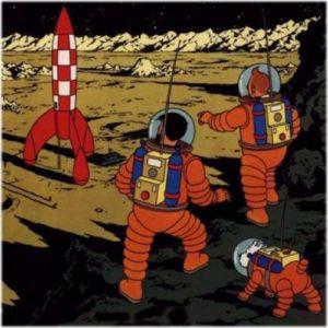 Tintin sur la Lune avant Neil Armstrong