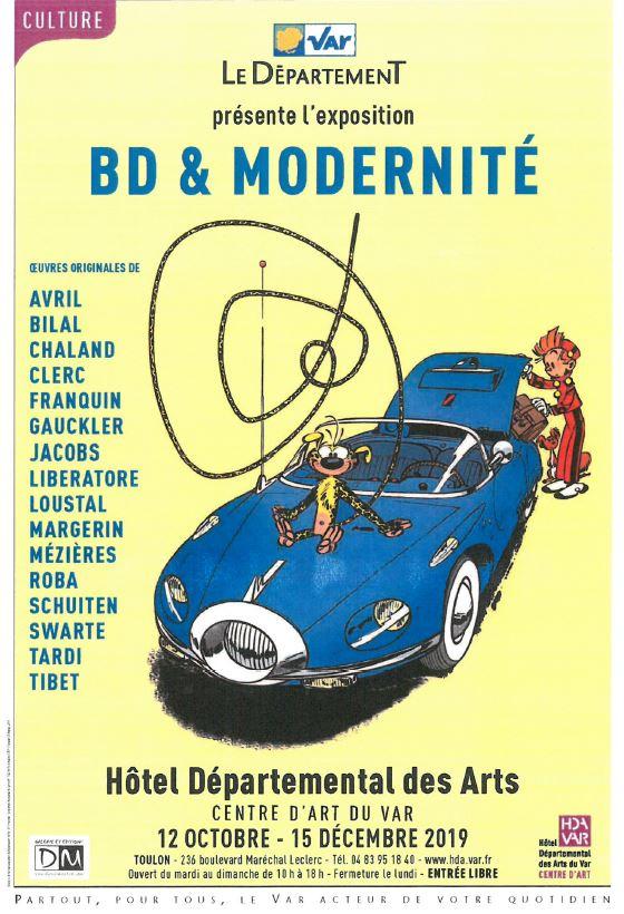 BD & Modernité – Du 12 octobre au 15 décembre 2019 – Hôtel Départemental des Arts – Centre d'Art du Var, Toulon.