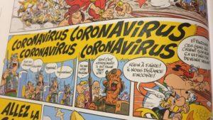 Le coronavirus déjà présent dans Astérix en 2017 !!!