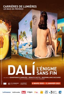 «Dalí, l'énigme sans fin & Gaudí, architecte de l'imaginaire» – Carrières de Lumières, Les Baux-de-Provence – Du 6 mars 2020 au 3 janvier 2021